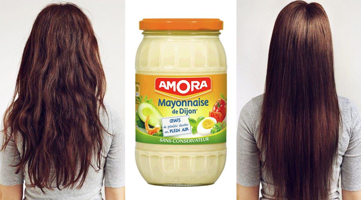 Cette recette naturelle à la mayonnaise pour lisser les cheveux et les rendre brillants instantanément