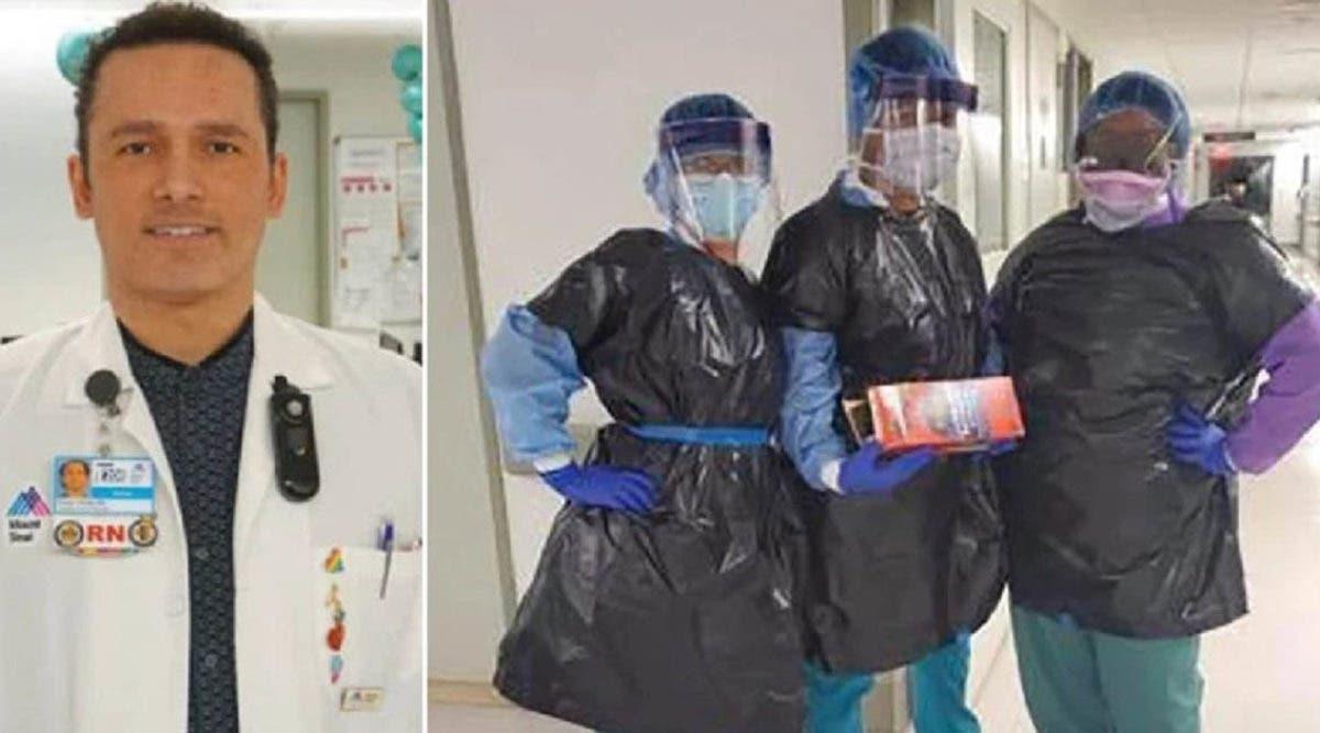 « Il ne méritait pas ça » Un infirmier d'un hôpital où le personnel est vêtu de sacs à ordures décède à 48 ans