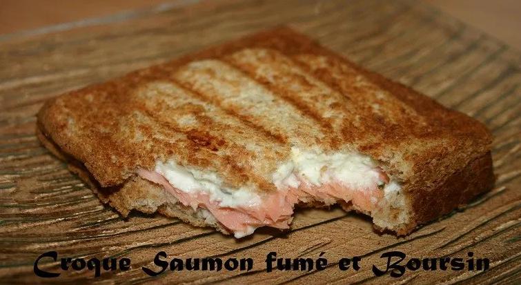 Croque Saumon fumé et Boursin
