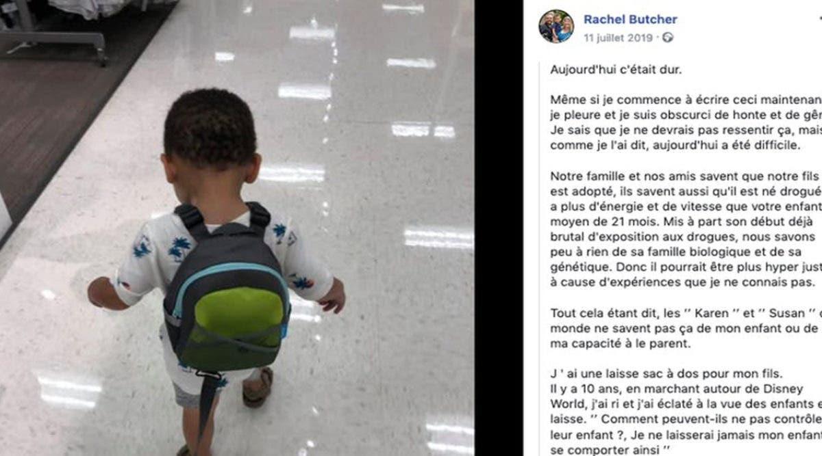 Critiquée et insultée, une maman explique pourquoi elle tient son enfant en laisse
