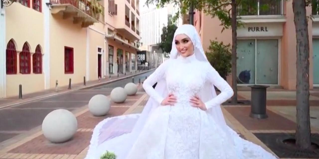 EN IMAGES | Une future mariée soufflée par les explosions à Beyrouth