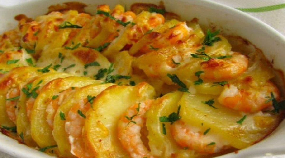 Recette santé : délicieux gratin de crevettes et pommes de terre sans lait, sans gluten
