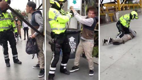 Il refuse de porter un masque et plante un couteau dans l'œil d'un agent de sécurité