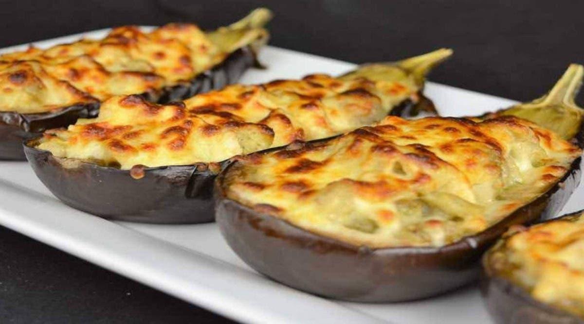 Recette : aubergines farcies aux poulet et fromage à s'en lécher les doigts