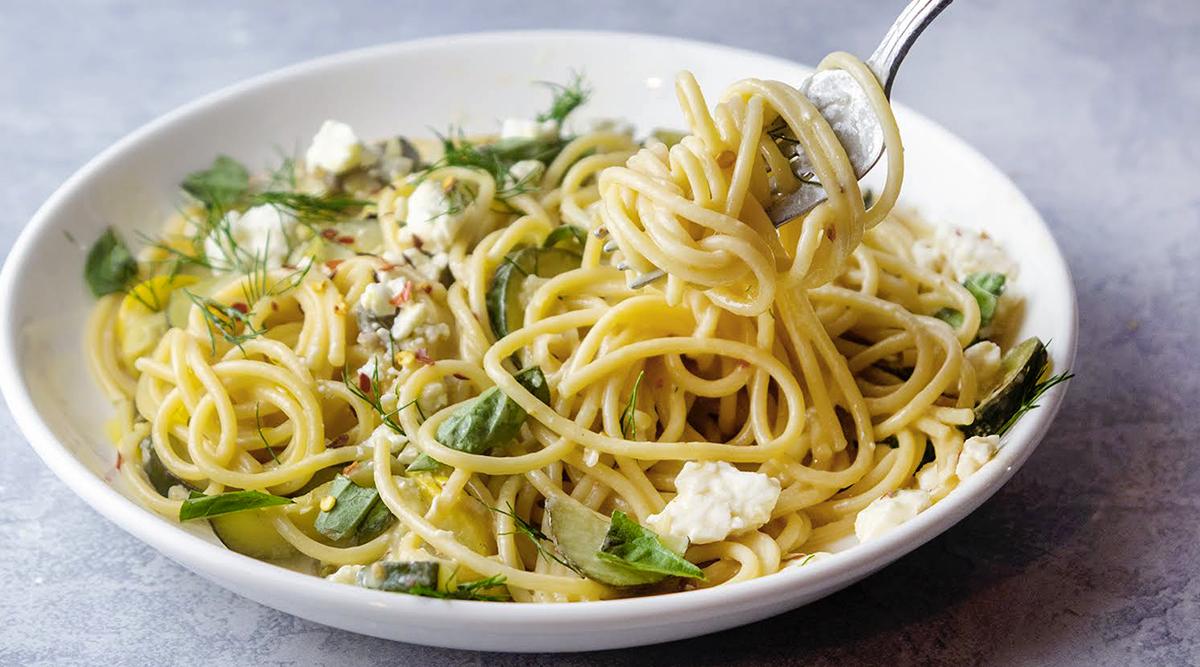 Recette. Spaghetti au citron et aux courgettes