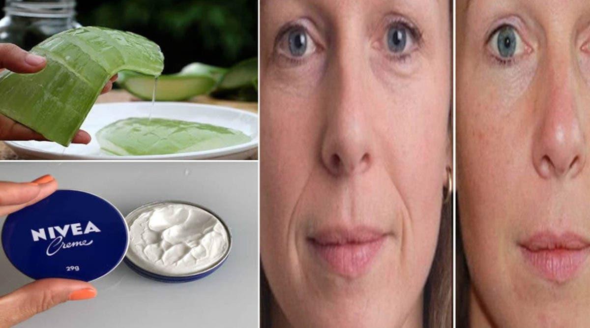 Crème à l'Aloe Vera et Nivea : élimine les rides et les ridules.Voici comment