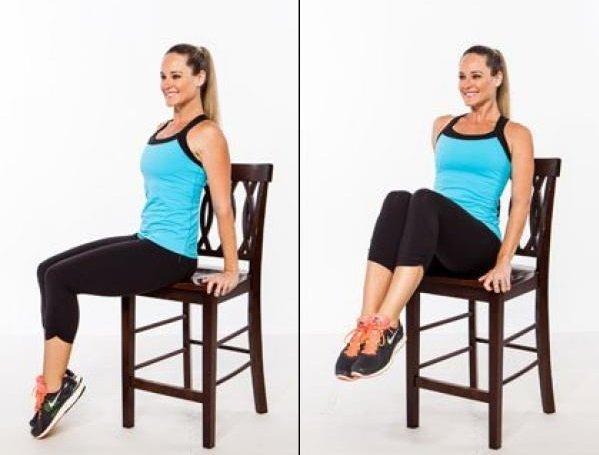 6 exercices sur une chaise pour la graisse abdominale