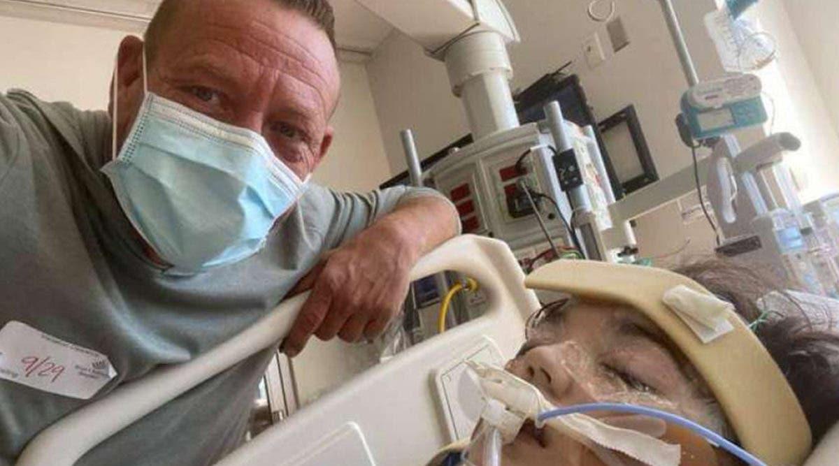 Un papa qui s'est battu pour être avec sa fille atteinte du Covid-19 demande aux internautes de prier pour elle