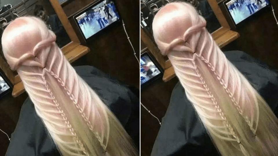 Une coiffure fait fureur sur le web car elle ressemble à un pénis géant.